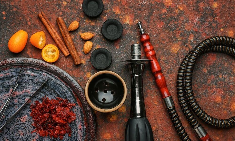 Hookah disassembled in parts