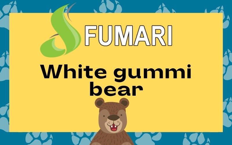 Fumari white gummi bear design